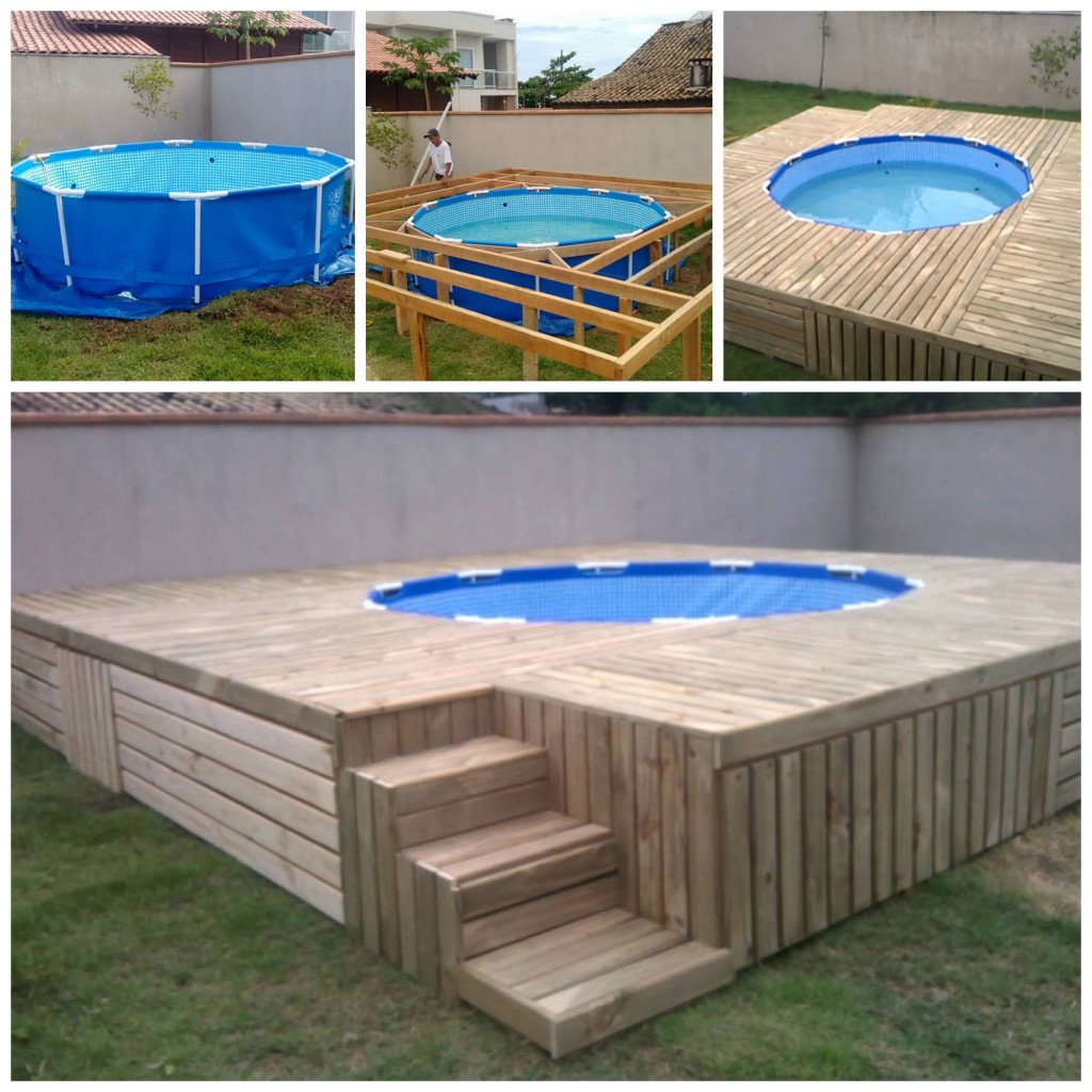 Piscinas De Plastico Baratas Pallet Swimming Pool Deck - Andrea's Notebook