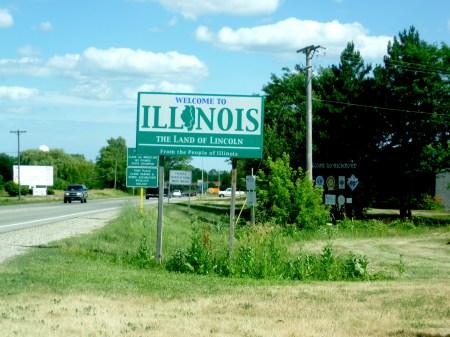 Indiana Illinois State Line