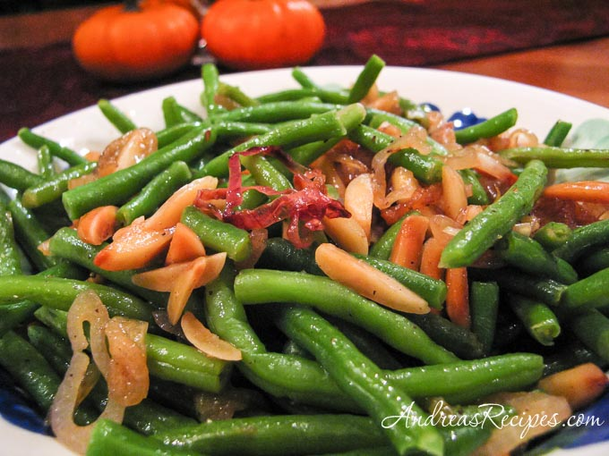 Andrea's Recipes - Brown Butter Greeen Beans with Almonds