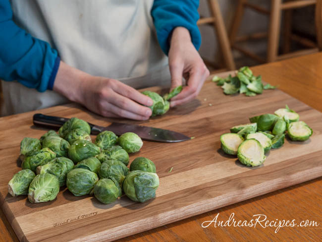 Prepping Brussels sprouts (The Kids Cook Monday) - Andrea Meyers