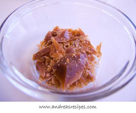 Andrea's Recipes - Golden Vanilla Bean Caramels, shards