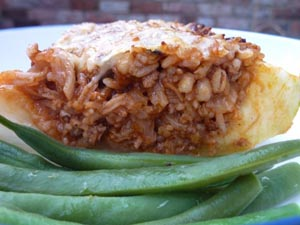 Nip It In the Bud - Vegetarian Stuffed Marrows
