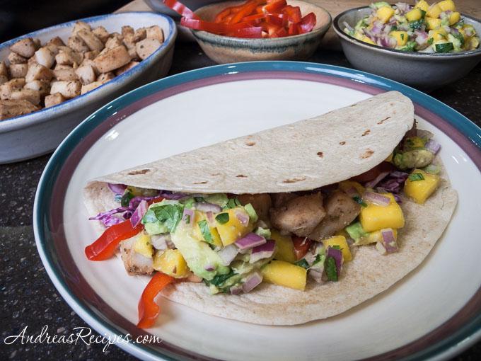 Grilled Fish Tacos with Mango-Avocado Salsa