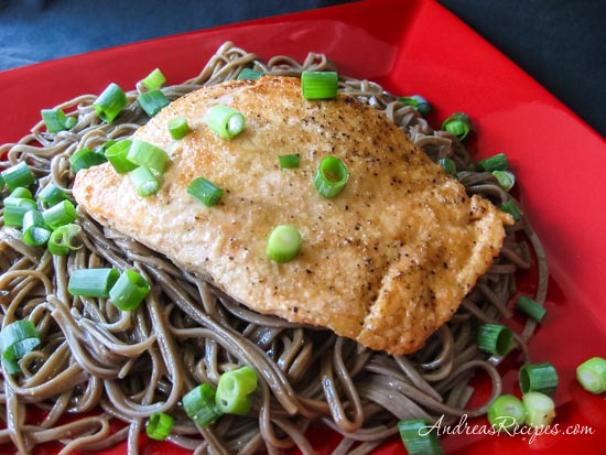 Japanese Salmon with Soba