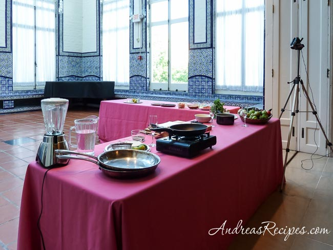 Andrea Meyers - Cooking stage at the Mexican Cultural Institute, Washington D.C.