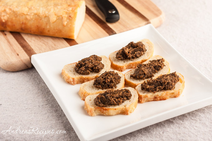 Andrea Meyers - Panera Asiago Demi slices with sun-dried tomato tapenade