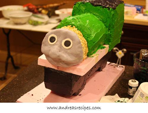 Andrea Meyers - Percy Train Birthday Cake, with face