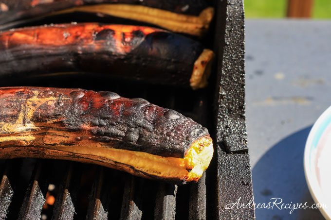 Andrea Meyers - plantains on the grill