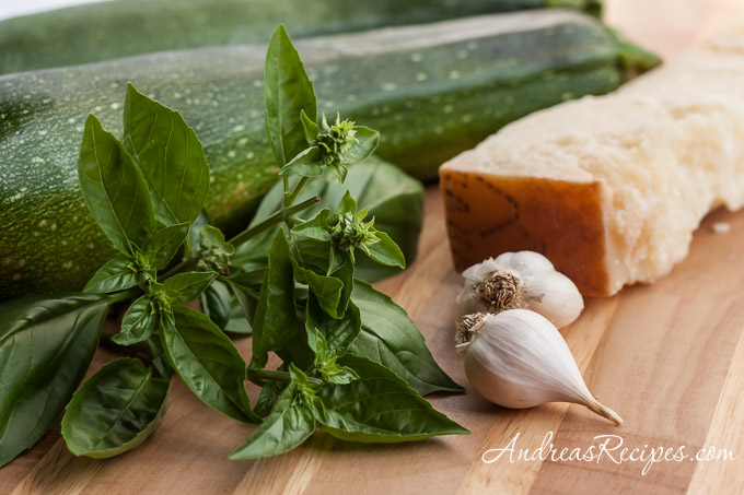 Andrea Meyers - Zucchini Risotto ingredients