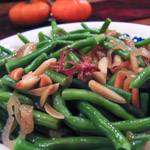 Brown Butter Green Beans with Almonds - Andrea Meyers