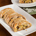 Andrea Meyers - Chrysalis Vineyards: A Warm Winter (Puff Pastry Breakfast Braid with Eggs, Ham, Potatoes, Mushrooms, and Goat Cheese)