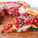 Andrea's Recipes - Chicago-Style Stuffed Pizza