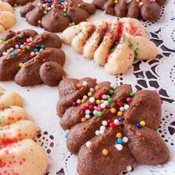 Cream Cheese Spritz Cookies Recipe - Andrea Meyers