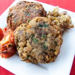 Italian Grilled Eggplant Cakes Recipe - Andrea Meyers
