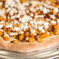 Butternut Squash Pizza with Pancetta, Goat Cheese, and Sage - Andrea Meyers