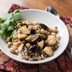 Eggplant, Potato, and Chickpea Curry Recipe - Andrea Meyers