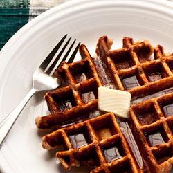 Honey Cinnamon Whole Wheat Waffles - Andrea Meyers