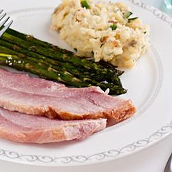Roasted Ham Recipe with Maple Whiskey Glaze - Andrea Meyers