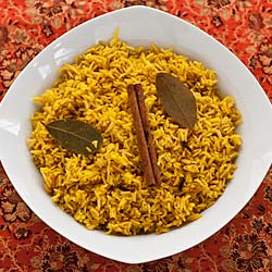 Indian Savory Yellow Rice (The Kids Cook Monday) - Andrea Meyers