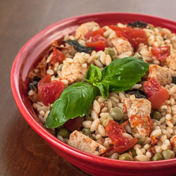 Andrea Meyers - Skillet Chicken with Orzo and Tomatoes