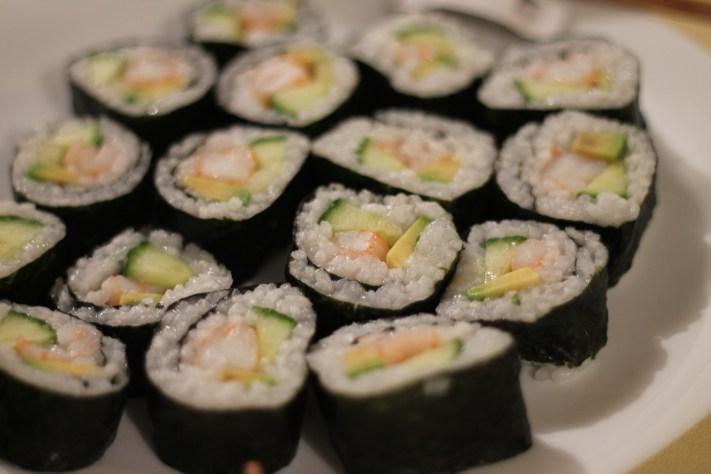 Sushi cu creveți