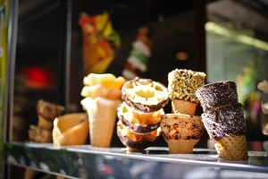 buying ice-cream in Rome