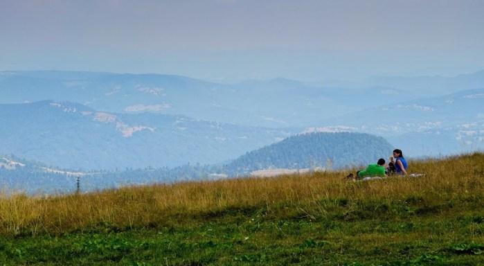 mountain hiking in Piatra Mare with the Fuji X10