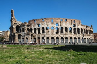 Colosseum in Rome on a sunny day X-E1 with Fuji XF 18-55