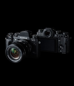 Fuji X-T1 front and back views