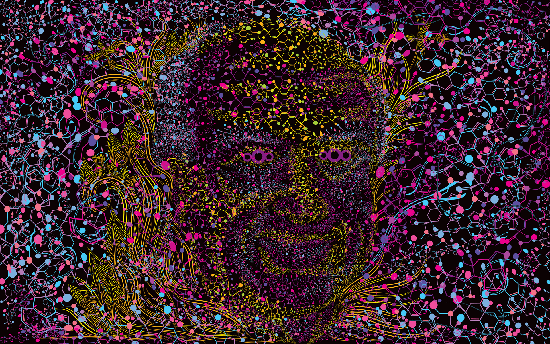 Make Your Own Live Wallpaper Iphone X Albert Hofmann Psychedelic Portrait Free Wallpaper