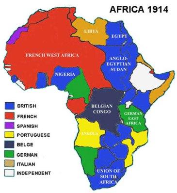 En 1885 las potencias europeas se repartieron el continente africano