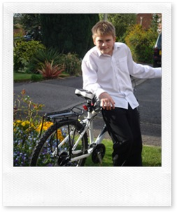 Age 12, with New Bike - April 2008
