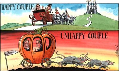 THE DAILY CARTOON_1 May 2011 - Happy Couple Unhappy Couple