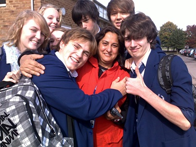Nasreen Sharriff, surrounded by me and my classmates and peers.