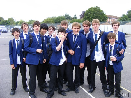 THE LADS_Me (fifth from the R) with several of my bloke friends.