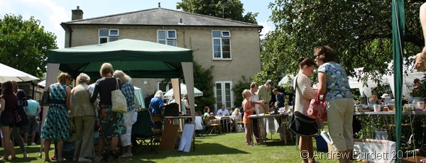 GREAT DAY_The event unfolded on the lawn of the vicarage.