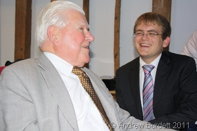 LAUGHING AWAY_Great uncle Bernard Hallworth and brother Matthew share a joke.