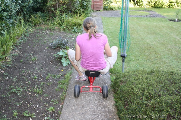 OLD TIME'S SAKE_Harriet on the trike.