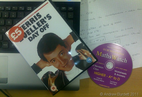 FUNNY FILM_Our Maths class were treated to a film in today's lesson, just hours after leaving the exam room.