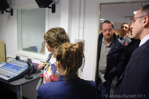 TAKE A LOOK_Mr Richards shows guests around the new recording studio.
