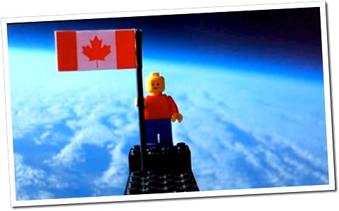 SPACE MAN: This Canadian Lego man went up to space, in a stunt similar to one in James May's Man Lab.