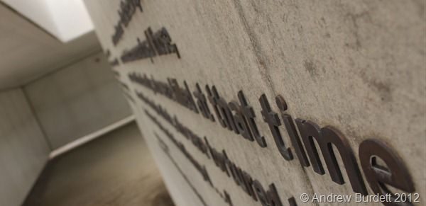 BEAUTIFUL WORDS: A quote from a Sachsenhausen prisoner on the wall. (IMG_7932)