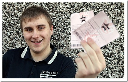 LUCKY STAR: Teenager Richard Kitching tidied up when he found a lottery ticket worth £52,981.
