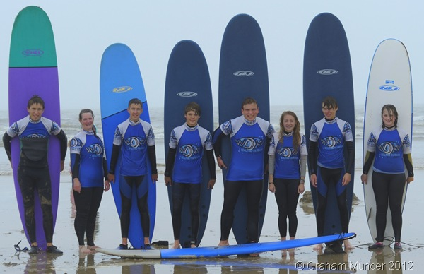 SURF'S UP: With our boards at the end of a great surf session. (0768_20120808_DSC3564_GrahamMuncer)