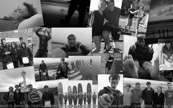 REFLECTIONS: I'll never forget this great camp. (dragonsesuphotosformontage_B&W)