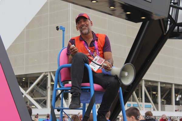 TRUE HEROES: It's the Games-Makers like Eldon Lecointe, pictured, that I believe we have so much to thank for a successful London 2012. (IMG_2714)