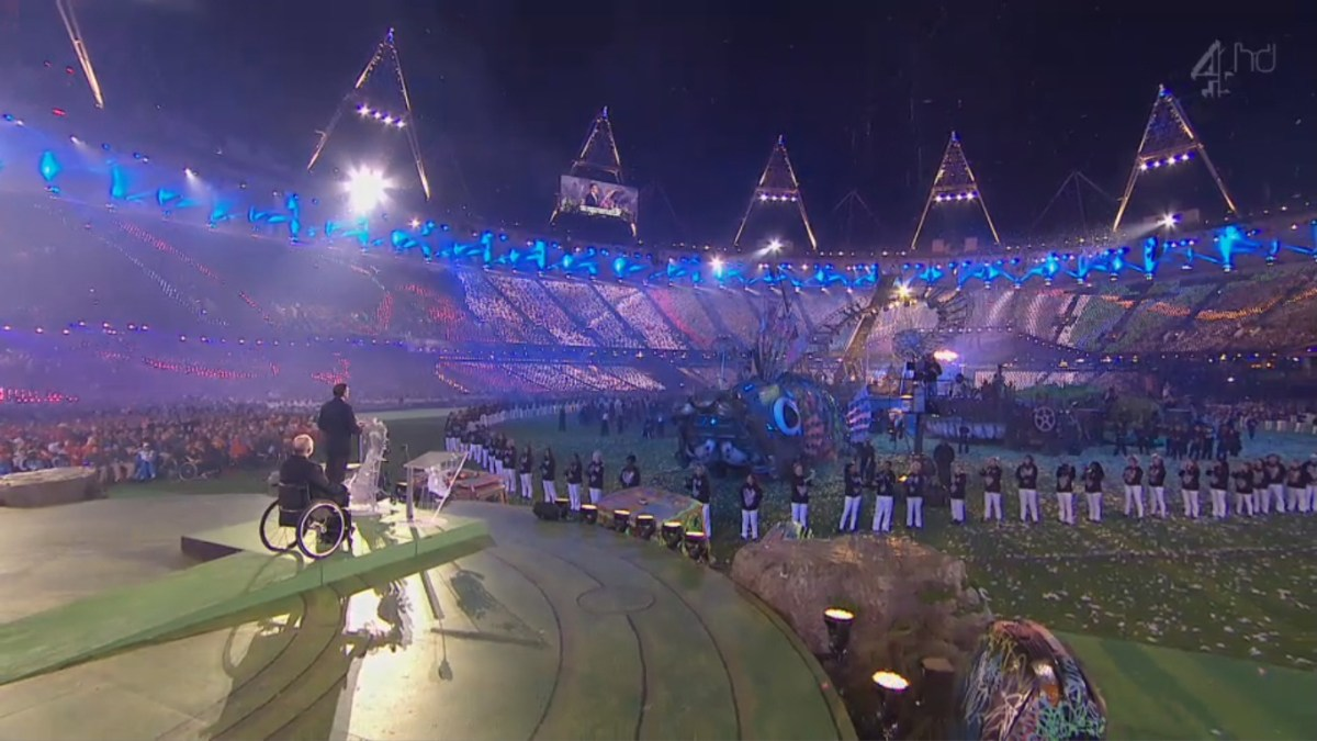 LEND ME YOUR EARS: Seb Coe appeared relaxed as he delivered his fourth and final Games Ceremony speech, at the closing of the Paralympics.