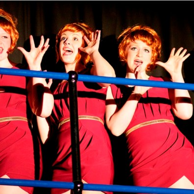 THE CHORUS LINE: Singing girls appear on the balcony around the stage. (IMG_3342_AlexMeade)