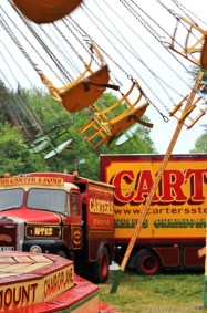 EMPTY CHAIRS: The chairoplane ride – the Carter family's second acquisition – goes round empty.