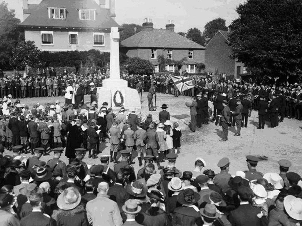 Dedication of Cookham War Memorial, 1919